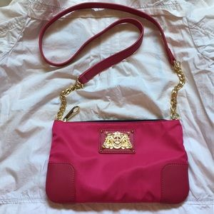 NEW Juicy couture pink Crossbody nylon/Leather